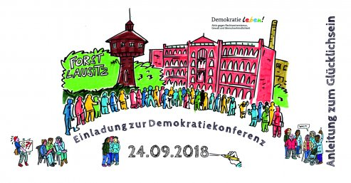 Demokratiekonferenz | Illustration: Elke Renate Steiner - steinercomix.de