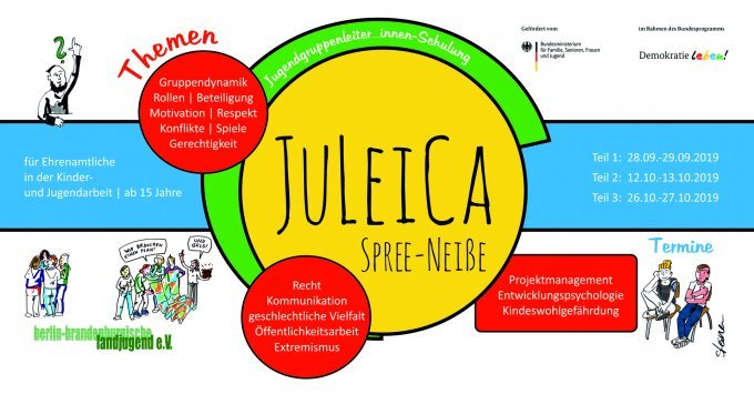 JuLeiCa Flyer | Illustration: Elke R. Steiner - steinercomix.de